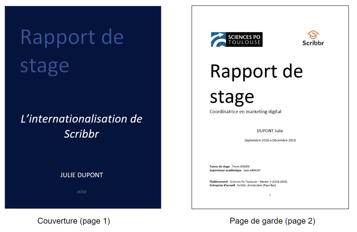 Page De Garde Rapport De Stage Kalde Bwong Co