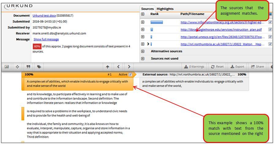 Urkund logiciel anti plagiat