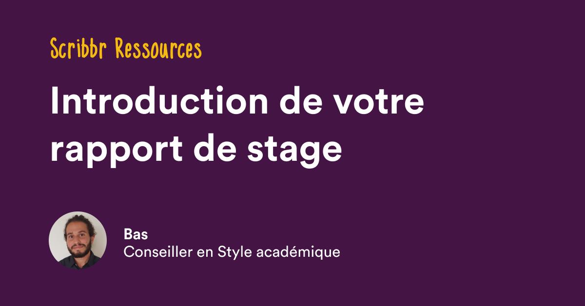 Citaten Scribbr Pro : Introduction de rapport stage Étapes et exemples